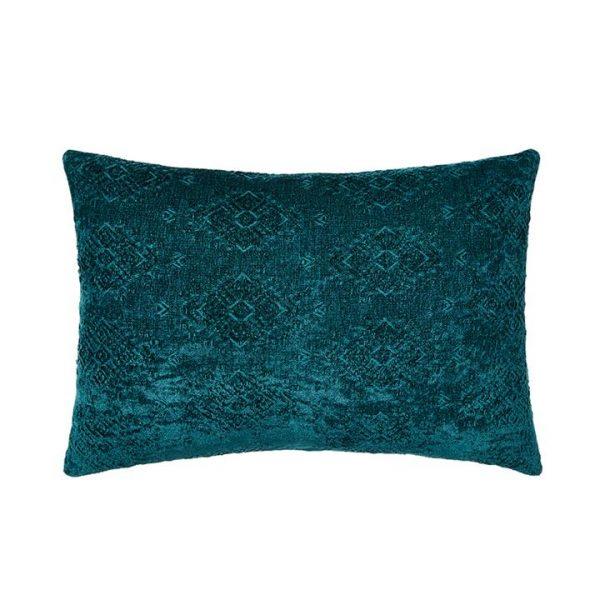 Mercer + Reid Marais Cushion Deep Sea 40cm (W) x 60cm (L) - Deepsea By Adairs