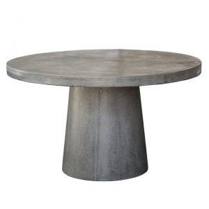 Miami Concrete Outdoor Round Dining Table, 130cm