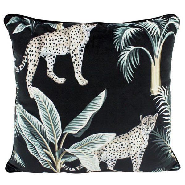 Midnight Jungle Velvet Scatter Cushion