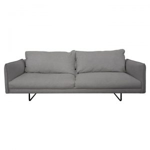 Millicent Fabric Sofa, 2.5 Seater, Grey