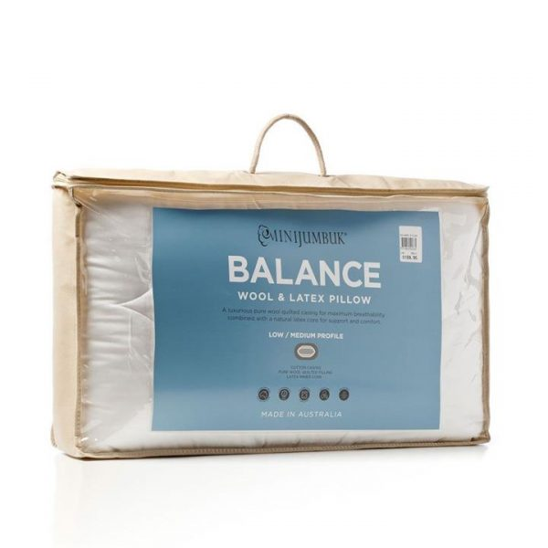 MiniJumbuk Balance Pillow - White By Adairs