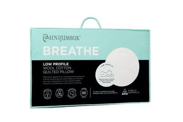 MiniJumbuk Breathe Pillow Standard - Lowprofile By Adairs