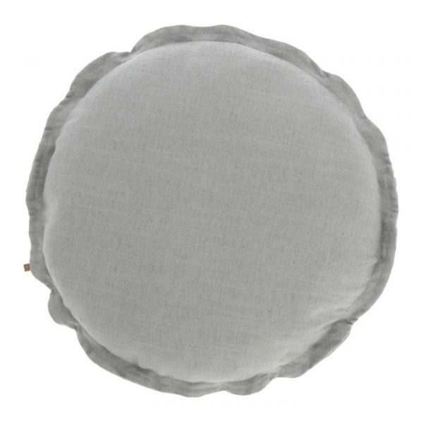 Moana Fabric Round Cushion, Grey