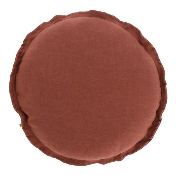 Moana Fabric Round Cushion, Maroon