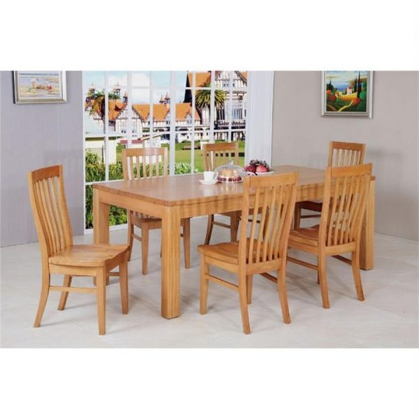 Moselia Tasmanian Oak Timber Dining Table (Table Only), 240cm, Wheat