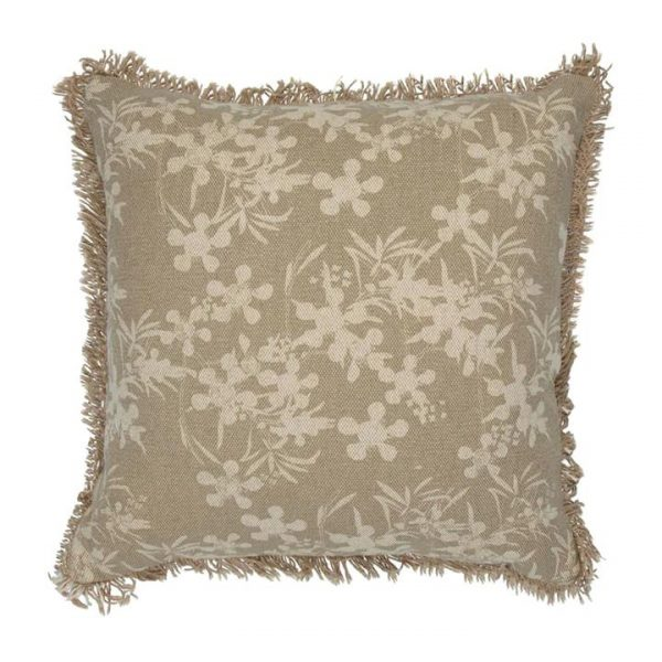 Myrtle Fabric Scatter Cushion, Beige