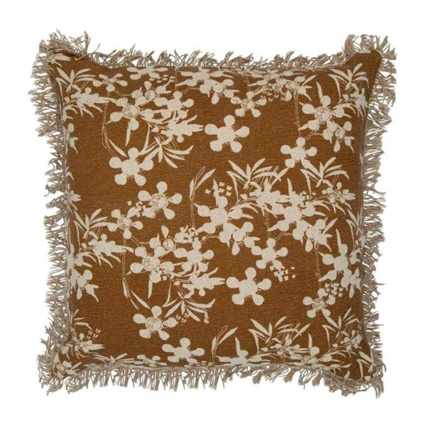 Myrtle Fabric Scatter Cushion, Mustard