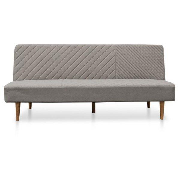 Nausta Fabric Clic Clac Sofa Bed, 3 Seater, Grey