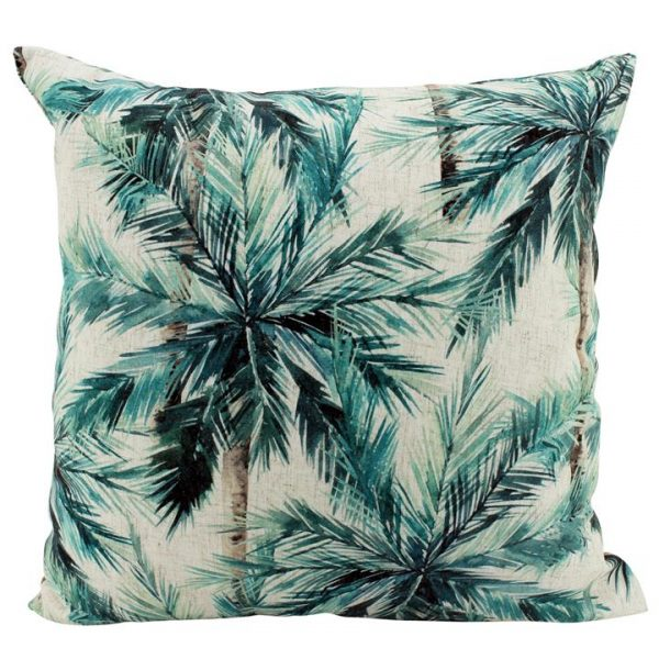 Nel Jade Jungle Doubled Sided Linen Scatter Cushion