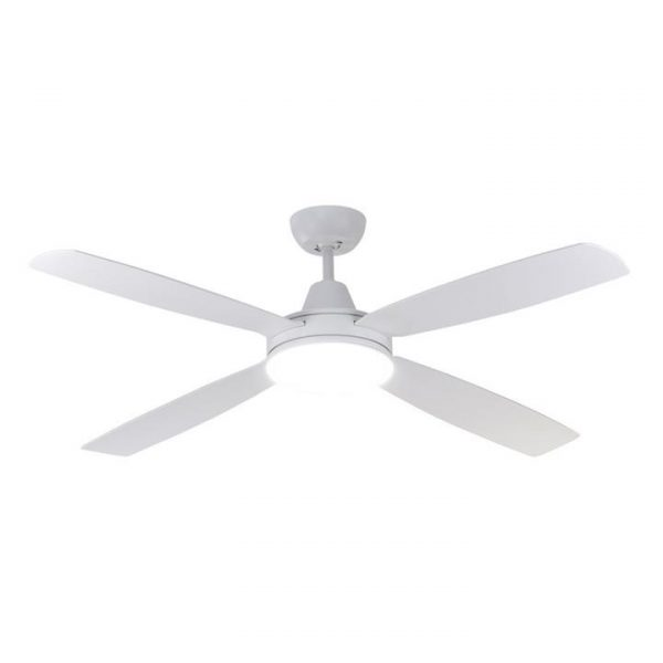 """Nemoi Indoor / Outdoor DC Ceiling Fan with CCT LED Light, 137cm/54"""", White"""