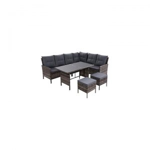 Nerveen Outdoor 6-Piece Sofa and Dining Set