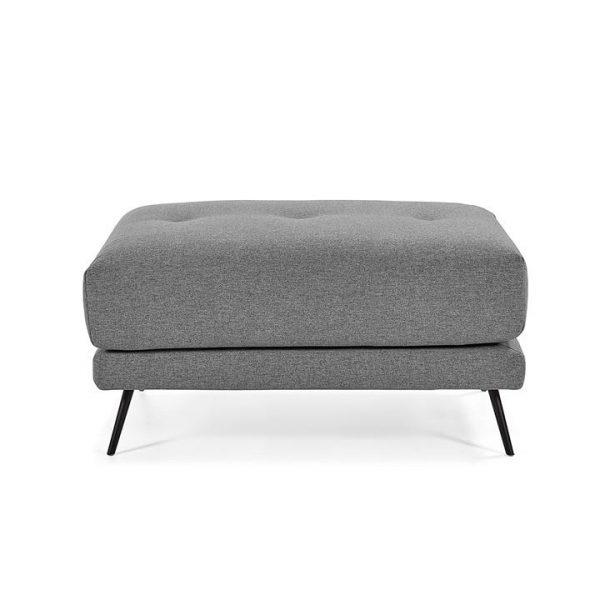 Nico Fabric Ottoman, Dark Grey