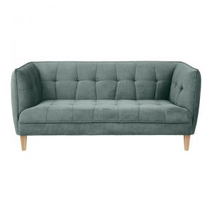 Noah Tufted Fabric Sofa, 2.5 Seater, Dustry Olive