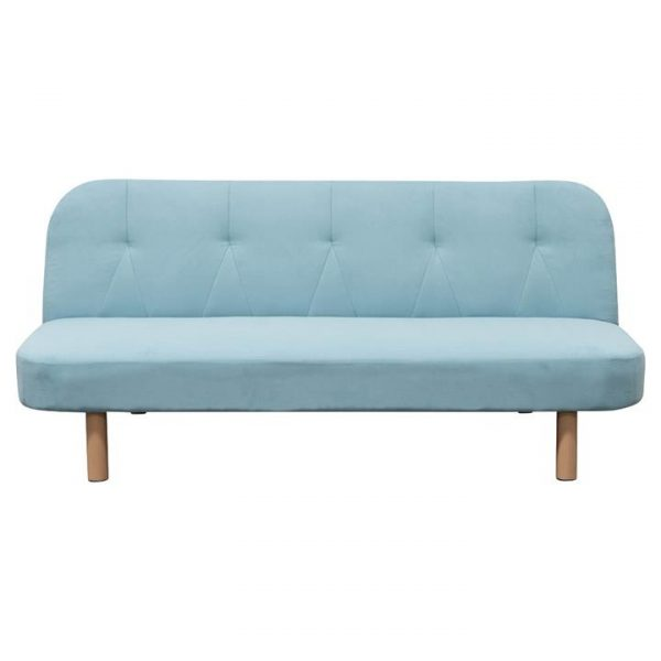 Orion Fabric Clic Clac Sofa Bed, 3 Seater, Sky Blue