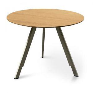 Otranto Round Office Meeting Table, 100cm, Oak