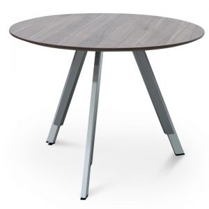 Otranto Round Office Meeting Table, 100cm, Walnut