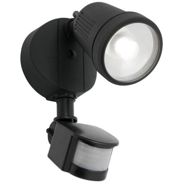 Otto IP54 LED Outdoor Floodlight with Motion Sensor, 1 Light, Black