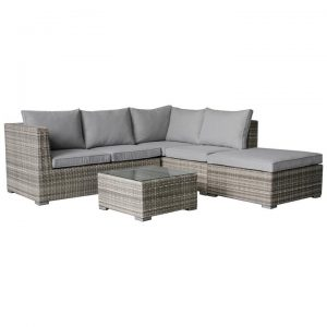Palermo 4 Piece Wicker Outdoor Modular Corner Lounge Set