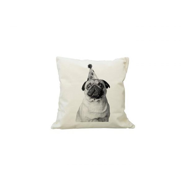 Party Pug Cushion Cover