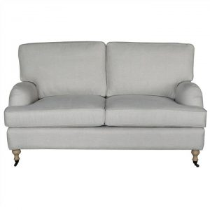 Preston Linen Fabric 2 Seater Sofa, Oatmeal