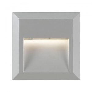 Prima IP65 Indoor / Outdoor LED Step Light, Square, Silver
