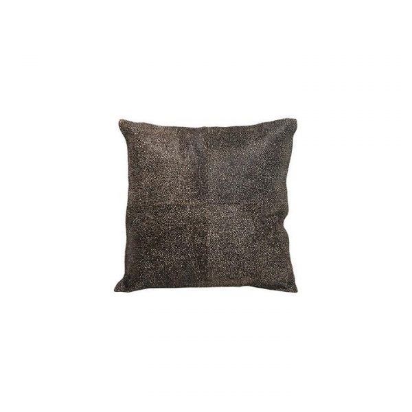 Printed Cow Hide Cushion Fish Print
