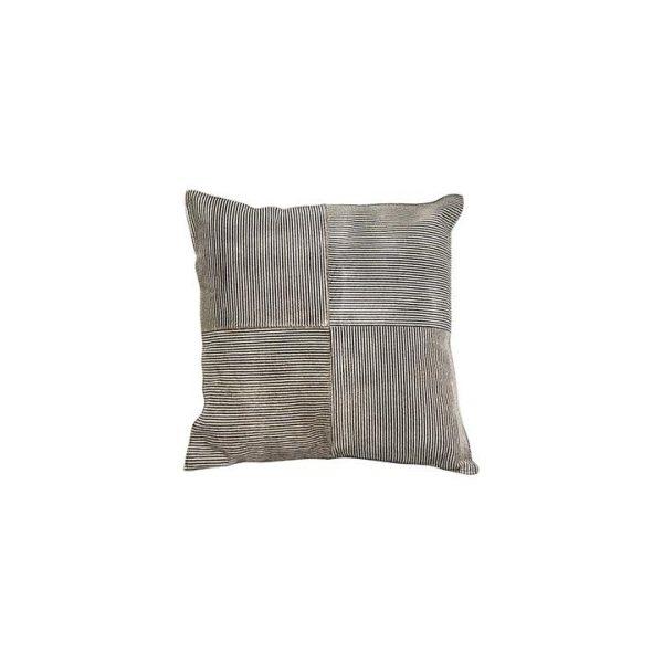 Printed Cow Hide Cushion Stripe