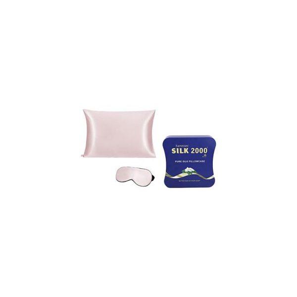 Pure Mulberry Silk Pillow Case & Eye Mask Set