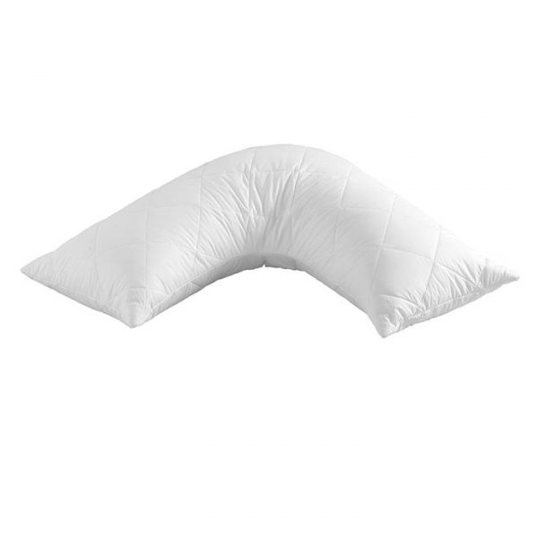 Quilted Pillow Protector V shape
