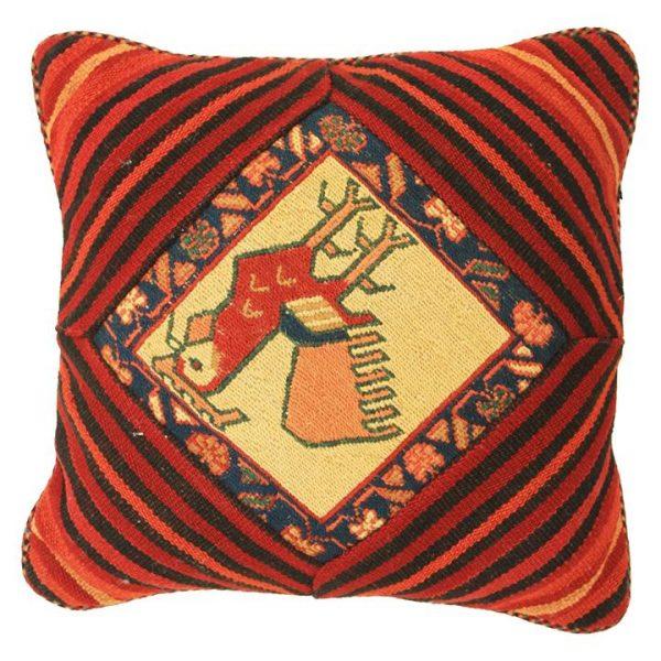Rasa Rooster Persian Wool Cushion