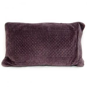 Rectangle Quilted Cotton Pillow - Rosewood