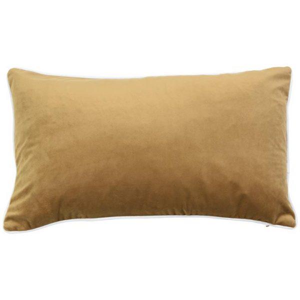Rodeo Velvet Lumbar Cushion Cover, Caramel