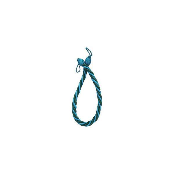 Rope Twist Pair Curtain Tie-Back, Blue