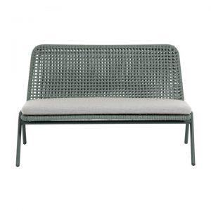 Salee Poly Rattan & Metal Indoor / Outdoor Loveseat Sofa