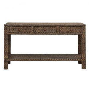 Savannah Rattan Console Table, 150cm, Tobacco