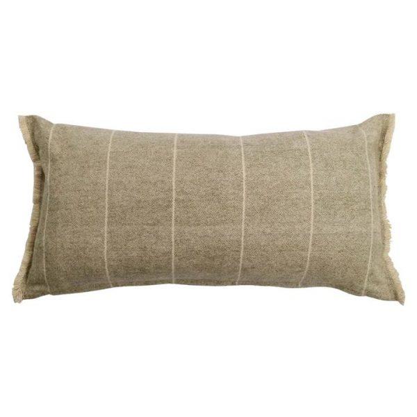 Scott Cotton Lumbar Cushion, Khaki Green