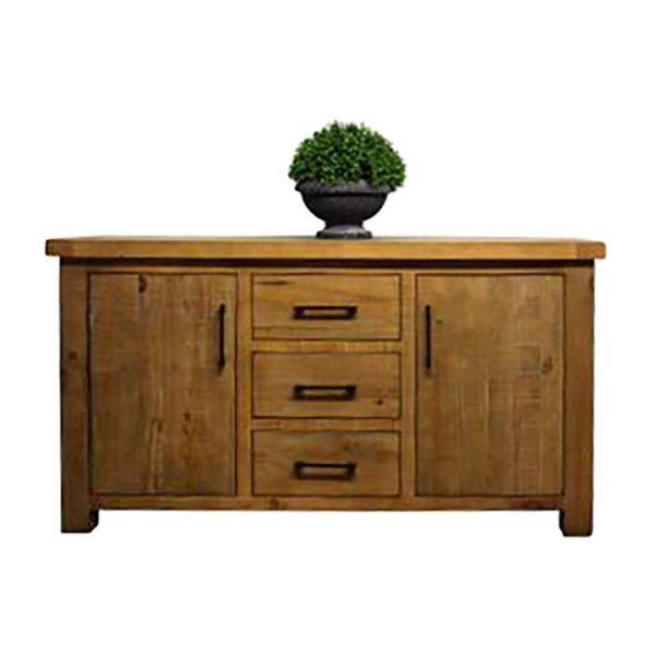 Sefton Pine Timber 2 Door 3 Drawer Sideboard, 150cm