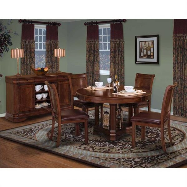 Sherwood Solid American Poplar Timber Dining Chair with PU Seat (Chair Only) - Chocolate