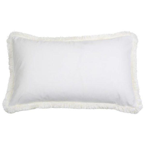 St. Kilda Velvet Lumbar Cushion Cover, White