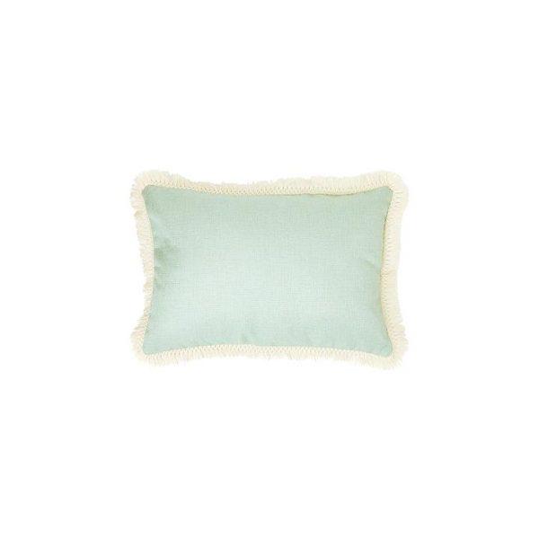 Summer Aqua Fringe Cushion