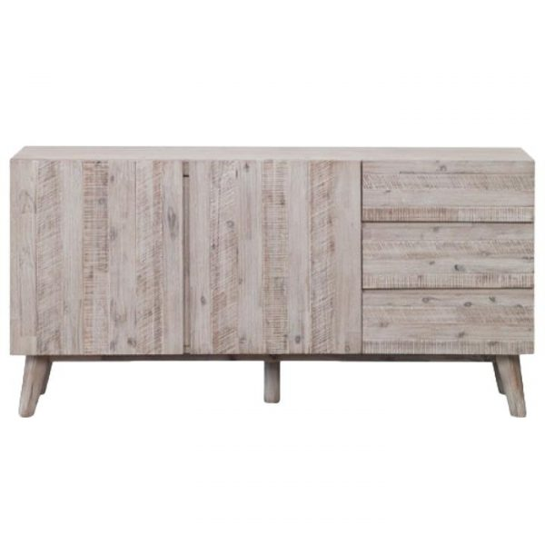 Summit Acacia Timber 2 Door 3 Drawer Buffet Table, 160cm