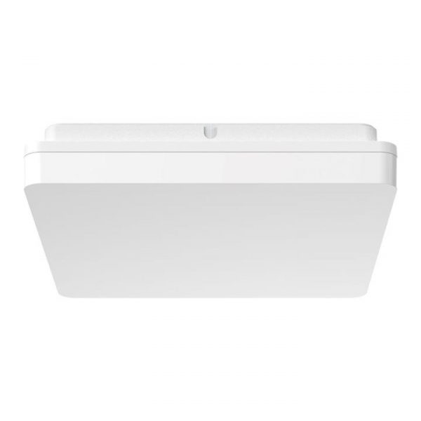 Sunset IP54 Indoor / Outdoor Tricolour Switchable LED Oyster Light, Square, 30cm