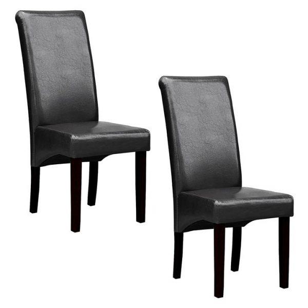 Swiss Dining Chair, Black (Set of 2)
