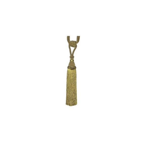Tassel Pair Curtain Tie-Back, Antique Gold, 30cm