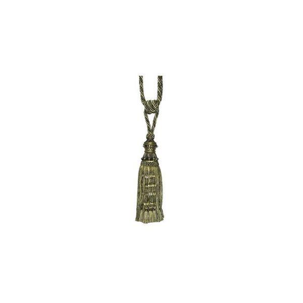 Tassel Pair Curtain Tie-Back, Olive, 26cm