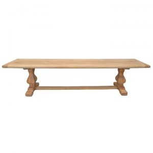 Tate Reclaimed Elm Timber Dining Bench, 200cm, Natural