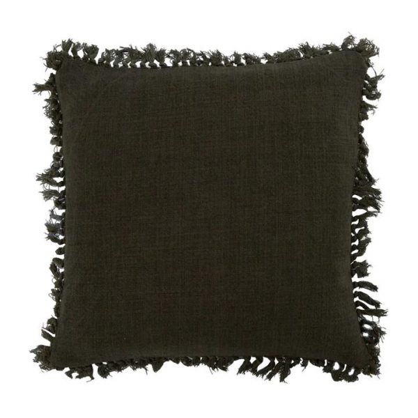 Telssa Jute Scatter Cushion, Charcoal
