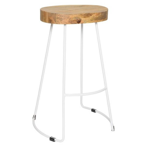 Tractor Bar Stool, White