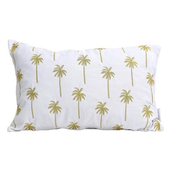 Tranquil Golden Palm Cushion