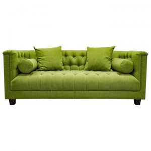 Trinity Tufted Fabric Sofa, 2.5 Seater, Pistachio